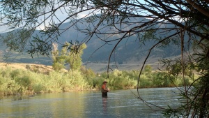 Yellowstone River in Gardiner, Montana! Husband fly fishes while wife chases kids.